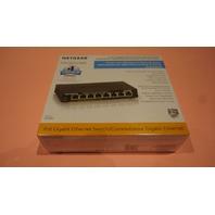 NETGEAR GS308P-100NAS 100-21224-01R12 8 PORT GIGABIT ETHERNET SWITCH