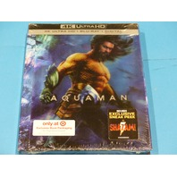 AQUAMAN TARGET EXCLUSIVE 4K ULTRA HD + BLU-RAY + DIGITAL NEW