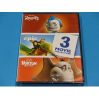 3 MOVIE COLLECTIN ROBOTS/ EPIC/ HORTON HEARS A WHO DVD NEW