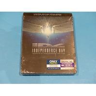 INDEPENDENCE DAY BLU-RAY + DIGITAL HD STEELBOOK NEW