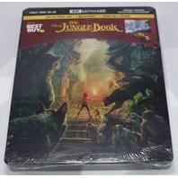THE JUNGLE BOOK LIMITED EDITION STEELBOOK DIGITAL COPY + 4K HD + BLU-RAY NEW