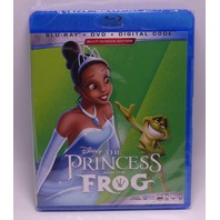 THE PRINCESS AND THE FROG BLU-RAY + DVD  NEW SEALED