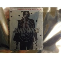 JOHN WICK BLU-RAY DVD DIGITAL HD LIMITED EDITION STEELBOOK NEW