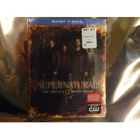 SUPERNATURAL THE COMPLETE TWELFTH SEASON BLU-RAY+DIGITAL+SLIPCOVER NEW