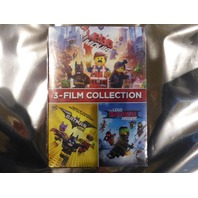 3 FILM COLLECTION THE LEGO MOVIE, LEGO BATMAN, LEGO NINJAGO DVD NEW