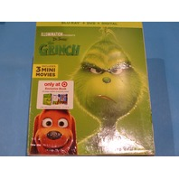 THE GRINCH BLU-RAY + DVD + DIGITAL NEW