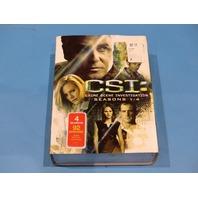 CSI SEAONS 1-4 DVD W/ SLIPCOVER NEW