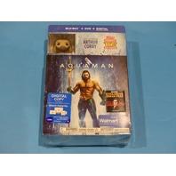 AQUAMAN WITH AQUAMAN POP! FIGURE - BLU-RAY + DVD  NEW