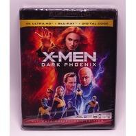 X-MEN DARK PHOENIX 4K ULTRA HD + DIGITAL + BLU-RAY NEW SEALED
