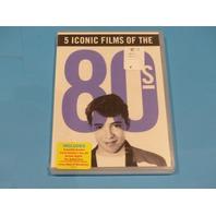 5 ICONIC FILMS 80S DVD CROCODILE DUNDEE FERRIS BUELLER HARLEN NIGHTS NEW