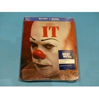 STEPHEN KINGS IT EXCLUSIVE STEELBOOK BLU-RAY + DIGITAL NEW SEALED