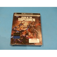 REIGN OF THE SUPERMEN 4K ULTRA HD + BLU-RAY  NEW SEALED