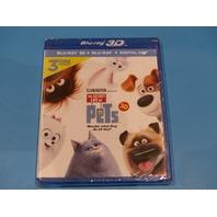 THE SECRET LIFE OF PETS 3D BLU-RAY 3D + BLU-RAY  HD NEW