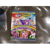 MY LITTLE PONY MOVIE, MY LITTLE PONY THE MOVIE BLU-RAY + DVD NEW