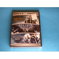 SNOW WH ITE AND THE HUNTSMAN, DRACULA UNTOLD, SEVENTH SON DVD NEW