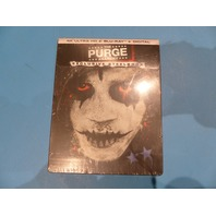 THE PURGE: ANARCHY LIMITED EDITION STEEL BOOK 4K UHD+BLU-RAY+DIGITAL NEW