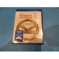 KINGSMAN: THE SECRET SERVICE AND GOLDEN RING BLU-RAY + DVD + DIGITAL NEW