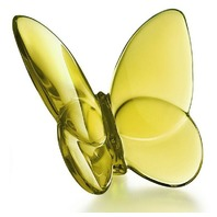 BACCARAT FRANCE CRYSTAL PAPILLON LUCKY AMBER BUTTERFLY 2102549