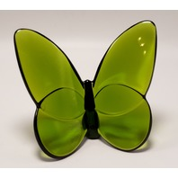 BACCARAT FRANCE CRYSTAL PAPILLON LUCKY MOSS GREEN BUTTERFLY 2102547