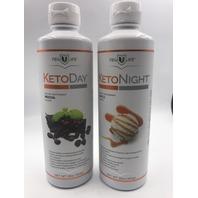 NEW LIFE MOCHA KETO DAY & KETO NIGHT MAPLE DIETARY SUPPLEMENT 16 OZ. 454 G.