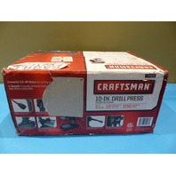"CRAFTSMAN 934983 10"" DRILL PRESS 1/2 HORSE POWER 3150 MAX RPMS"