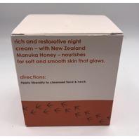 NEW ZEALAND CLEAN BEAUTY NOURISHING NIGHT CREAM KIWI BOTANICALS 1.7 FL. OZ. 48 G