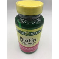 SPRING VALLEY BIOTIN 10,000 MCG 120 SOFTGELS EXP 05/2022