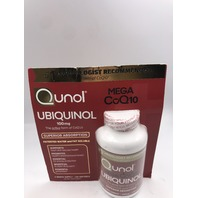 QUNOL MEGA COQ10 UBIQUINOL PATENTED WATER & FAT SOLUBLE 120 SOFTGELS EXP 08/2023