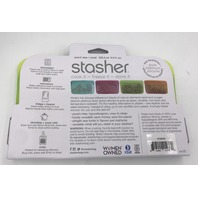 STASHER SNACK SIZE LIME COLORED BAG 93.5 ML. 9.9 FL. OZ.