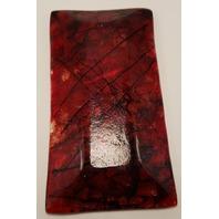 MARIAN FIELDSON VOLCANIC LAVA ART GLASS PLATTER TRAY BIG ISLAND PURPLE SHIMMER