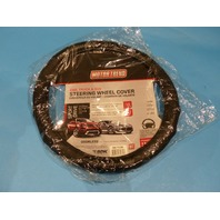 MOTOR TREND SW-712-BK CAR, TRUCK & SUV BLACK STEERING WHEEL COVER
