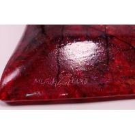 "MARIAN FIELDSON VOLCANIC LAVA ART GLASS PLATTER TRAY ISLAND PURPLE GOLD STRIPE (9"" x 5"")"