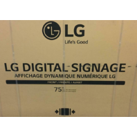 "LG 75"" 4K UHD ULTRA HD 2160P PBP/PIP DIGITAL SIGNAGE DISPLAY TV 75UM3C-B"