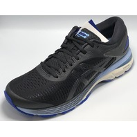 ASICS WOMENS GEL-KAYANO 25 BLACK/ASICS BLUE RUNNING SHOES US WOMENS 8.5 EU 40