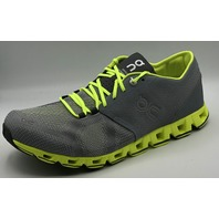 ON CLOUD CLOUD X GREY/NEON ALTHLETIC SHOES  SIZE MENS 9.5 EU 43
