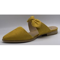 JOURNEE COLLECTION TELULAH WOMENS POINTED TOE FLAT MUSTARD SIZE US WOMENS 8M