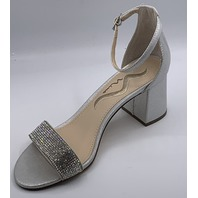 NINA EDRIA-FY TRUE SILVER REFL LEATHER SOLE HEEL SIZE WOMENS 6 EU 36