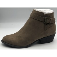 JUSTFAB BOOTIES,VAS DARK TAUPE SIZE US WOMENS 6 EU 36