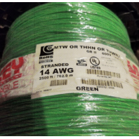 ROHS STRANDED 14 AWG 600V 2500' MTW/THHN/THWN2 MACHINE TOOL WIRE GREEN GR-II