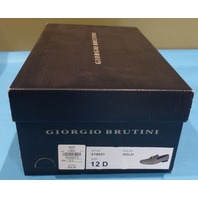 GIORGIO BRUTINI CONQUEST X18001 GOLD MEN US 12 D SLIP ON DRESS SHOE