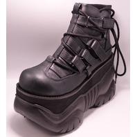 "DEMONIA BOXER-13 683002 BLACK US MEN 8 EU 38 4"" PLATFORM BOOTS"