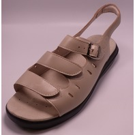 PROPET BREEZE WALKER W0001 AIR CELL CUSHION TAUPE LEATHER US WMN 9 2E X SANDALS