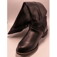JUSTFAB KINSEE BLACK US WMN 9 FLAT BOOTS