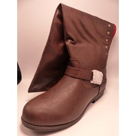 JOURNEE COLLECTION SPOKANE BROWN US WOMEN 10 SLOUCH BOOTS