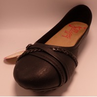 JELLY POP SHOES HECTOR 784515 BLACK DISTRESS US WOMEN 8.5M FLATS SHOES