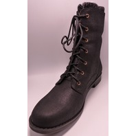 SHOEDAZZLE KIRSTEN BLACK US WOMEN 9 COMBAT BOOT