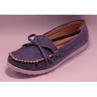 STEFANO DI ROMA COMFORT ABBI AZUL US WOMEN 8 FLAT LOAFERS SHOES