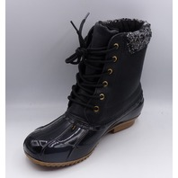 SHOEDAZZLE EVI BLACK US WOMEN 7 WATERPROOF DUCK BOOTS