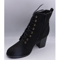 JOURNEE COLLECTION BAYLOR 000318 BLACK US WOMEN 8.5 ANKLE BOOTS
