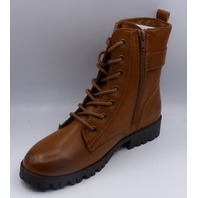 SO BROCCOLI COGNAC US WOMEN 7.5 COMBAT BOOTS